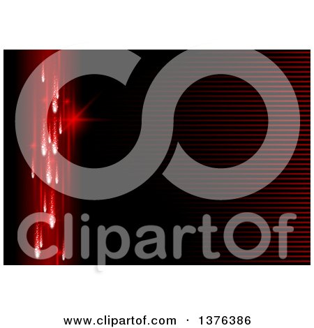 Clipart of a Background of Red Vertical Lights and Horizontal Stripes - Royalty Free Vector Illustration by dero