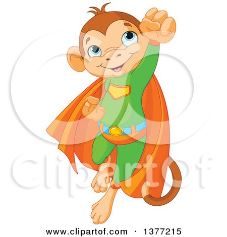 Clipart Cute Monkey Hanging From A Tree With A Sign - Royalty Free ...