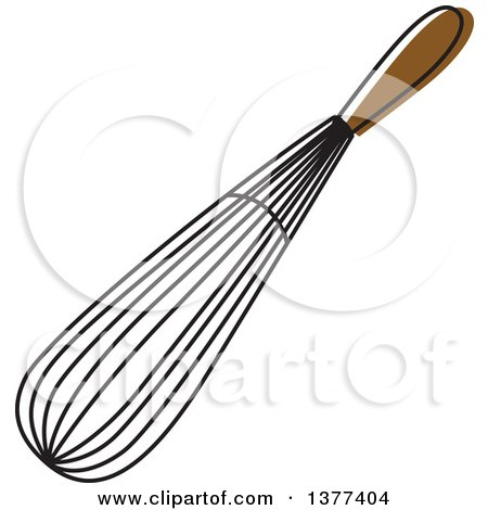 Clipart of a Sketched Kitchen Whisk - Royalty Free Vector Illustration by Cherie Reve