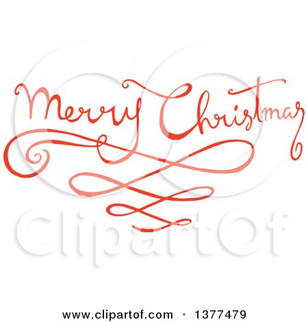 Merry Christmas Writing Clipart.Clipart Of A Fancy Merry Christmas Greeting With Swirls