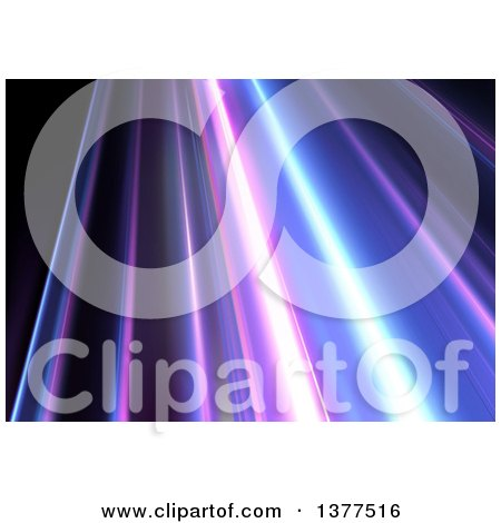 Clipart of a Background of Purple and Blue Lights on Black - Royalty Free Vector Illustration by dero