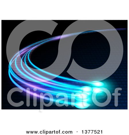 Clipart of a Background of Glowing Optical Fibers - Royalty Free Vector Illustration by dero
