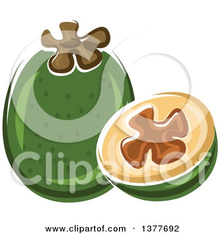 Clipart of a Pineapple Guava and Half - Royalty Free Vector Illustration by Vector Tradition SM
