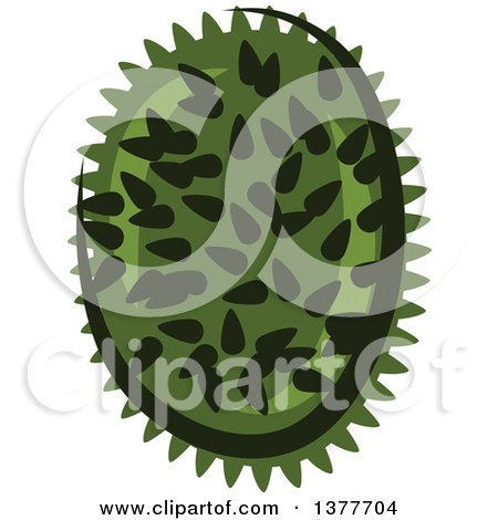 Clipart of a Durian Fruit - Royalty Free Vector Illustration by Vector Tradition SM