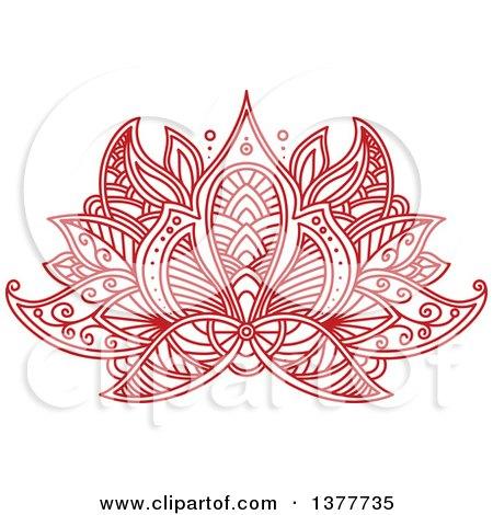 Red henna lotus flower posters art prints by vector tradition sm red henna lotus flower posters art prints mightylinksfo