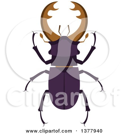 Clipart of a Stag Beetle - Royalty Free Vector Illustration by Vector Tradition SM