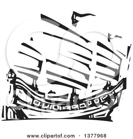 junk ship royalty free rf chinese ship clipart illustrations vector