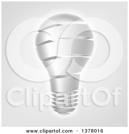 Clipart of a Strip Light Bulb over Gray - Royalty Free Vector Illustration by AtStockIllustration