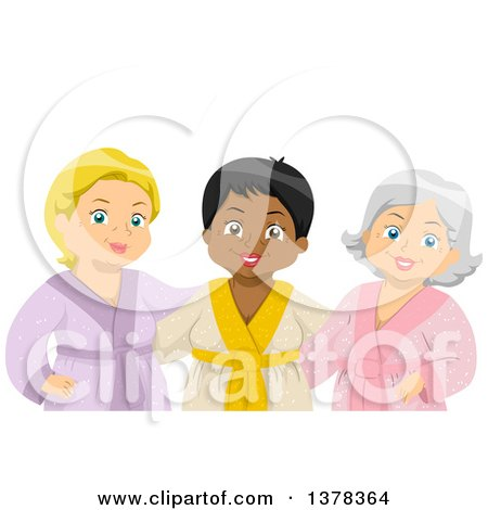 Clipart of a Group of Happy Senior Women at the Spa - Royalty Free Vector Illustration by BNP Design Studio