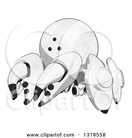 Clipart of a Cartoon Crab like Robot - Royalty Free Illustration by Leo Blanchette