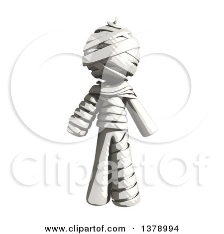 Clipart of a Fully Bandaged Injury Victim or Mummy - Royalty Free Illustration by Leo Blanchette