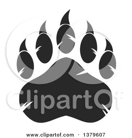 Clipart Outlined Heart Shaped Dog Paw Print Royalty Free