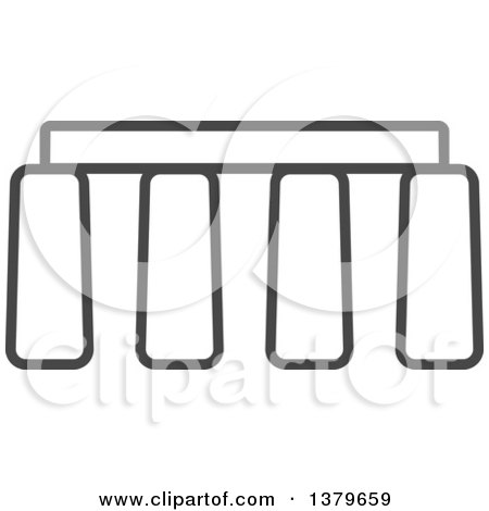 Clipart of a Grayscale Stonehenge - Royalty Free Vector Illustration by elena