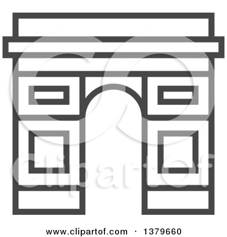 Clipart of a Grayscale - Royalty Free Vector Illustration by elena
