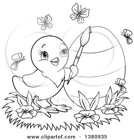 butterfly easter egg coloring pages - photo#40