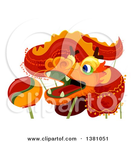 Clipart of a Chinese New Year Dragon - Royalty Free Vector Illustration by BNP Design Studio