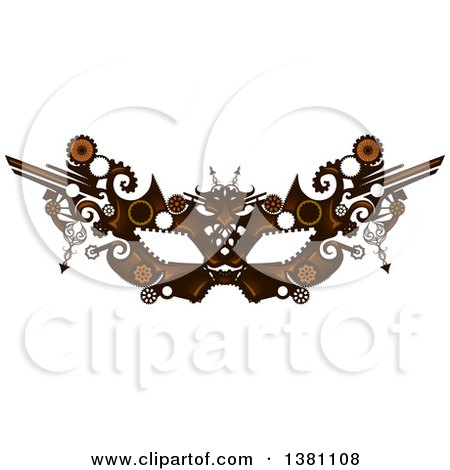 Clipart of a Victorian Steampunk Eye Mask - Royalty Free Vector Illustration by BNP Design Studio