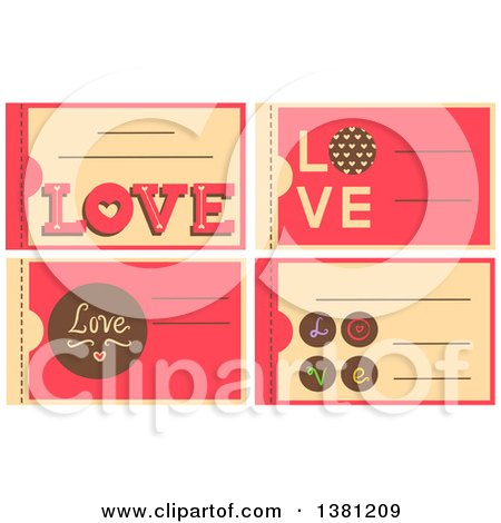 Clipart of Romantic Valentines Day Coupons - Royalty Free Vector Illustration by BNP Design Studio