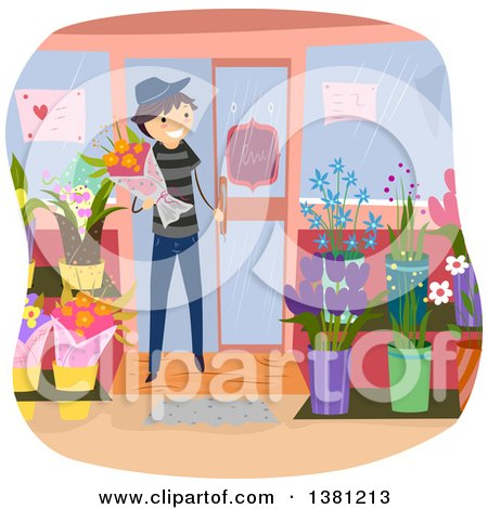 Royalty-Free (RF) Florist Clipart, Illustrations, Vector Graphics #1