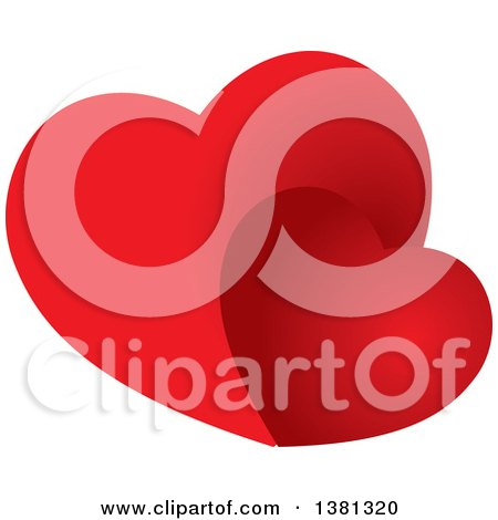 Clipart of Gradient Red Hearts - Royalty Free Vector Illustration by ColorMagic