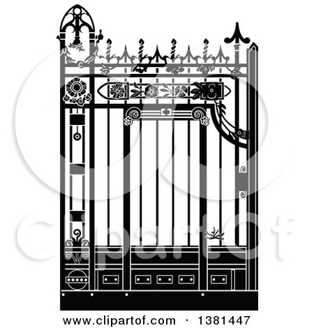 Royalty-Free (RF) Wrought Iron Clipart, Illustrations, Vector ...