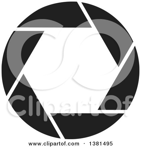 Clipart of a Black and White Camera Shutter - Royalty Free Vector Illustration by ColorMagic