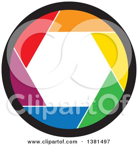 Clipart of a Colorful Camera Shutter - Royalty Free Vector Illustration by ColorMagic
