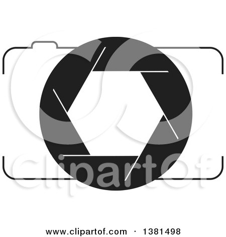 Clipart of a Black and White Camera - Royalty Free Vector Illustration by ColorMagic