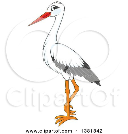 Royalty-Free (RF) Clipart Illustration of a Black And White Flying ...