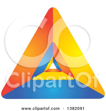 Clipart of a Colorful Abstract Pyramid Design - Royalty Free Vector Illustration by ColorMagic