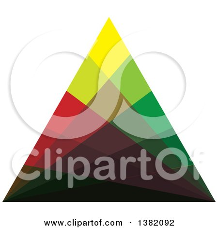 Clipart of a Colorful Pyramid - Royalty Free Vector Illustration by ColorMagic