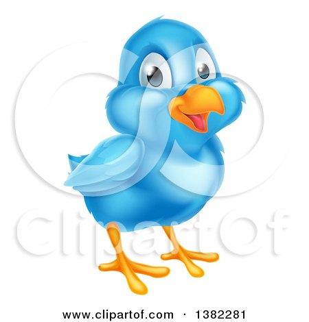 Happy Blue Bird Posters, Art Prints