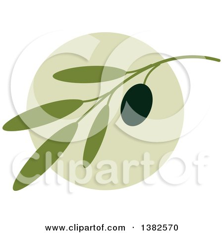 Clipart of a Black Olive Design - Royalty Free Vector Illustration by elena