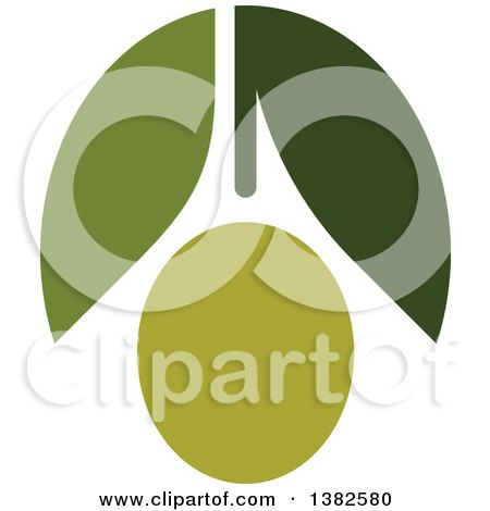 Clipart of a Green Olive Design - Royalty Free Vector Illustration by elena