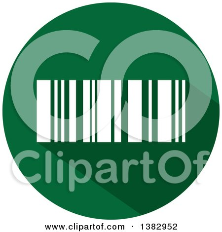 Clipart of a Flat Design Round Bar Code Icon - Royalty Free Vector Illustration by ColorMagic