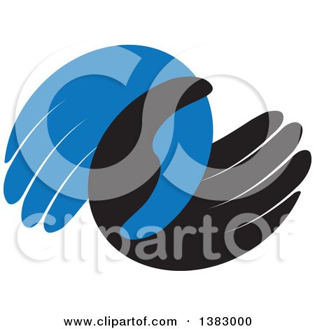 Blue and Black Hands Posters, Art Prints