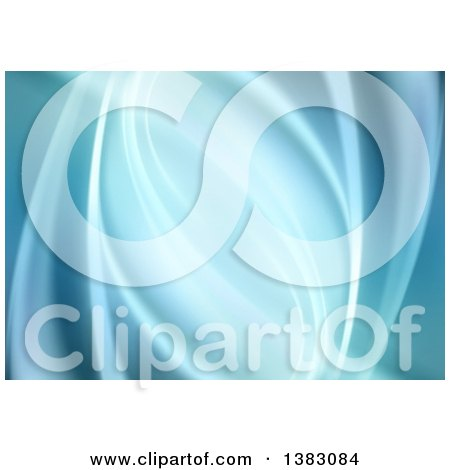 Clipart of a Background of Abstract Blue Waves - Royalty Free Vector Illustration by dero