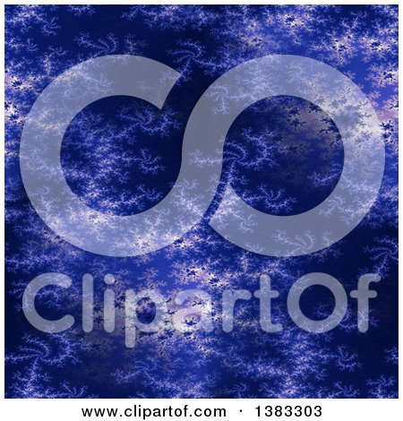 Clipart of a Dark Blue Fractal Background - Royalty Free Illustration by oboy