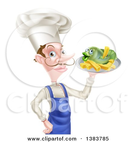 Royalty-Free (RF) Clipart of Fish And Chips, Illustrations, Vector ...