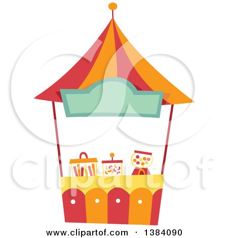 Clipart of a Festival Carnival Booth Stand - Royalty Free Vector Illustration by BNP Design Studio