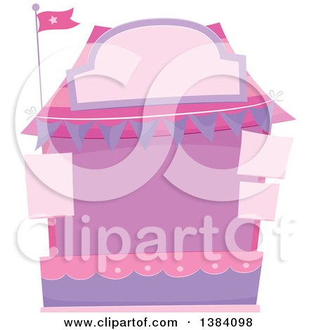 Clipart of a Pink and Purple Carnival or Festival Booth - Royalty Free Vector Illustration by BNP Design Studio