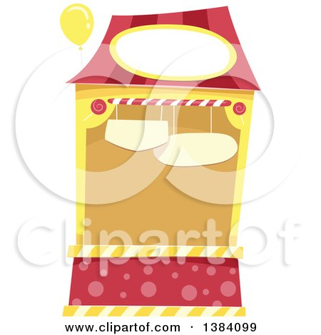 Clipart of a Red and Yellow Carnival or Festival Booth - Royalty Free Vector Illustration by BNP Design Studio