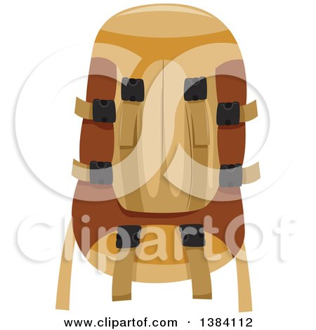 Clipart of a Camping or Recreational Backpack - Royalty Free Vector Illustration by BNP Design Studio