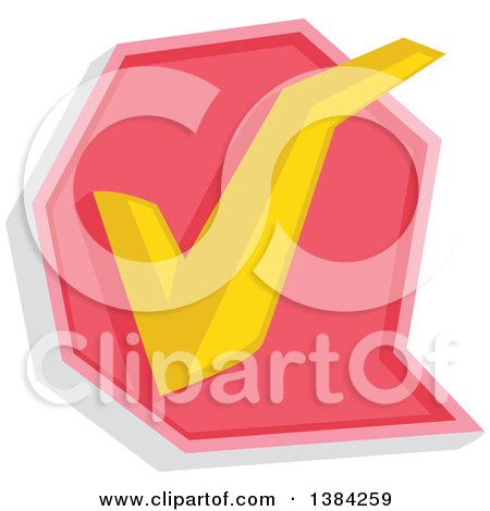 Clipart of a Check Mark Approved Icon - Royalty Free Vector Illustration by BNP Design Studio