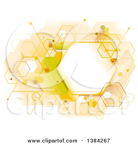 Clipart of an Abstract Geometric Hexagon Beehive Background - Royalty Free Vector Illustration by BNP Design Studio