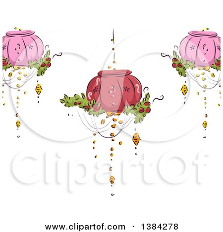 clipart of a beautify fancy chandelier with lit candles