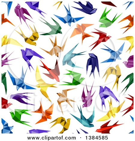 Royalty Free Rf Origami Bird Clipart Illustrations