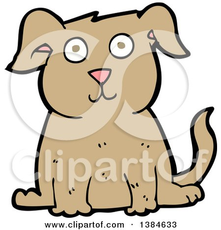 Clipart of a Cartoon Dog - Royalty Free Vector Illustration by lineartestpilot