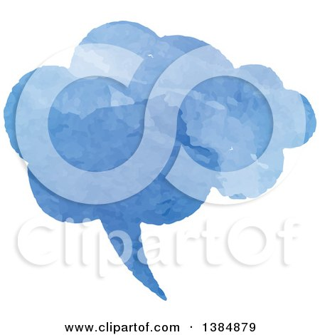 Clipart of a Watercolor Painted Speech Bubble - Royalty Free Vector Illustration by KJ Pargeter