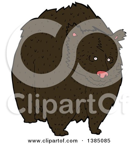Clipart of a Cartoon Brown Bear - Royalty Free Vector Illustration by lineartestpilot